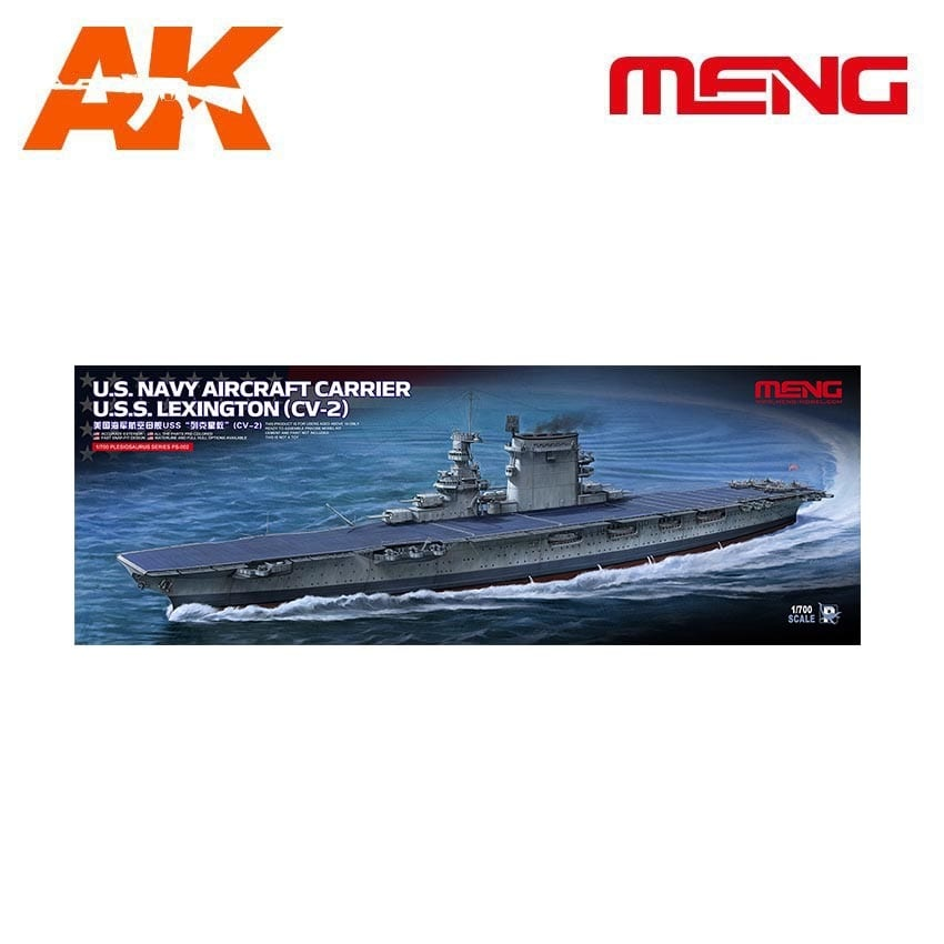 Meng Models U.S. Navy Aircraft Carrier U.S.S. LEXINGTON (CV-2) - Scale 1/700 - Meng Models - MM PS-002