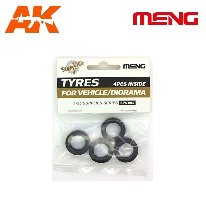 Meng Models Tyres for Vehicle/Diorama(4pcs) - Scale 1/35 - Meng Models - MM SPS-001
