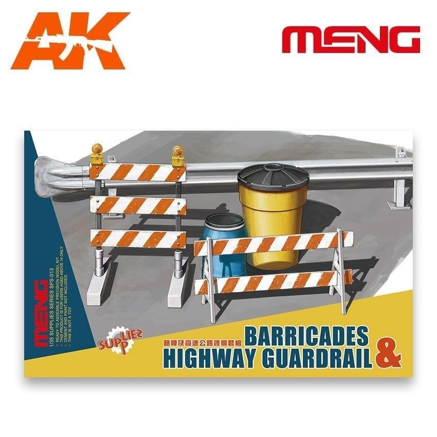 Meng Models Barricades & Highway Guardrail - Scale 1/35 - Meng Models - MM SPS-013