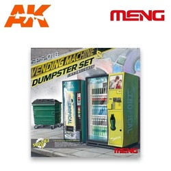 Vending Machine & Dumpster Set - Scale 1/35 - Meng Models - MM SPS-018