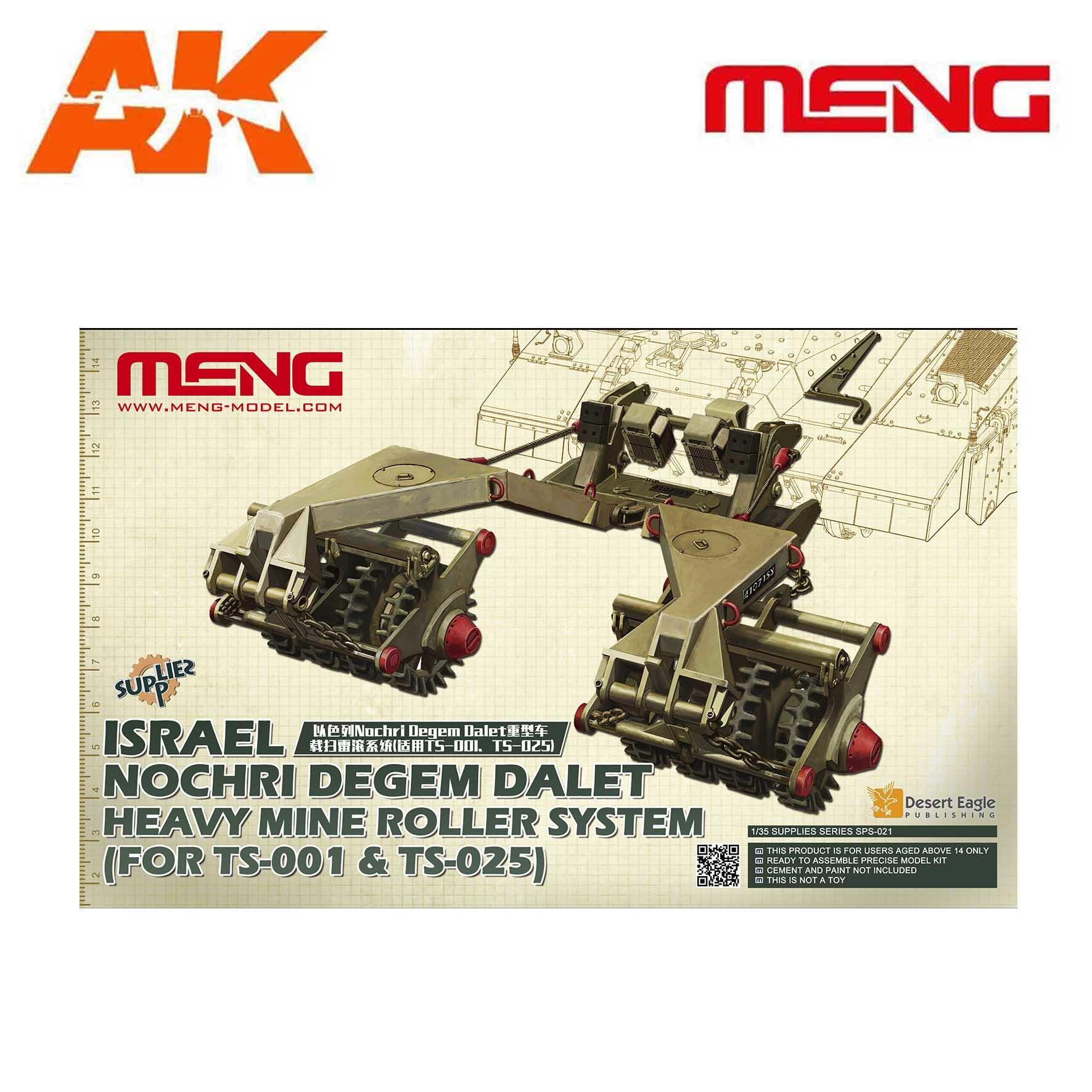 Meng Models Israel Nochri Degem Dalet Heavy Mine Roller System (For TS-001&TS-025) - Scale 1/35 - Meng Models - MM SPS-021