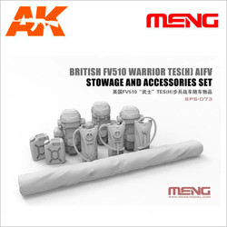 British FV510 Warrior TES[H] AIFV Stowage & Accessories Set - Scale 1/35 - Meng Models - MM SPS-073