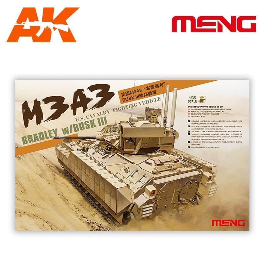 Meng Models U.S. Cavalry Fighting Vehicle M3A3 Bradley w/BUSK III - Scale 1/35 - Meng Models - MM SS-006