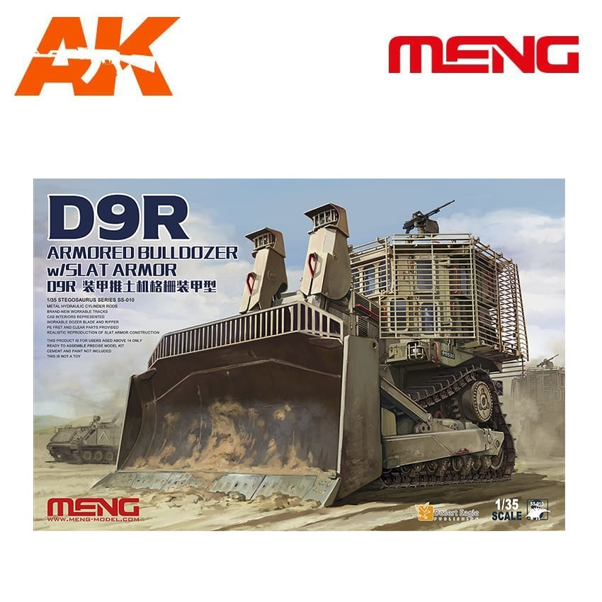Meng Models D9R Armored Bulldozer W/Slat Armor - Scale 1/35 - Meng Models - MM SS-010