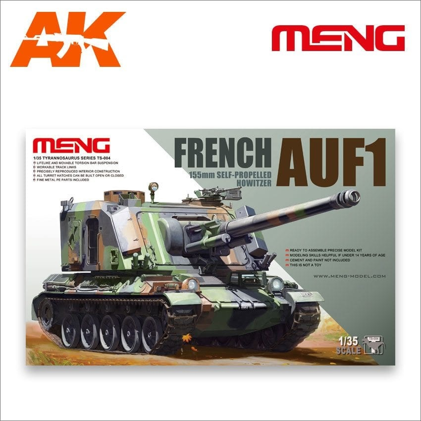 Meng Models French AUF1 155mm Self-propelled Howitzer - Scale 1/35 - Meng Models - MM TS-004