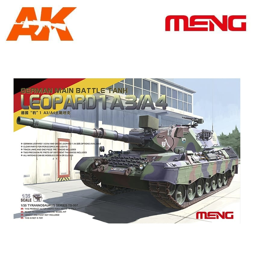 Meng Models German Main Battle Tank Leopard 1 A3/A4 - Scale 1/35 - Meng Models - MM TS-007