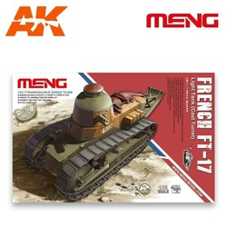 French FT-17 Light Tank (Cast Turret) - Scale 1/35 - Meng Models - MM TS-008