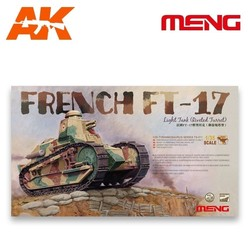 French Ft-17 Light Tank (Riveted Turret) - Scale 1/35 - Meng Models - MM TS-011