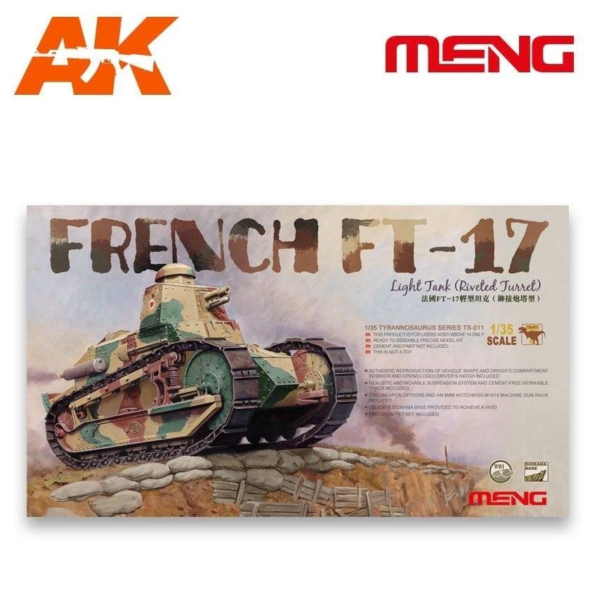 Meng Models French Ft-17 Light Tank (Riveted Turret) - Scale 1/35 - Meng Models - MM TS-011