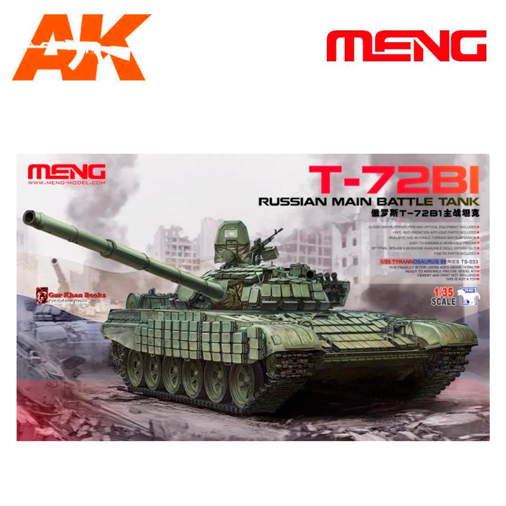 Meng Models Russian Main Battle Tank T-72B1 - Scale 1/35 - Meng Models - MM TS-033