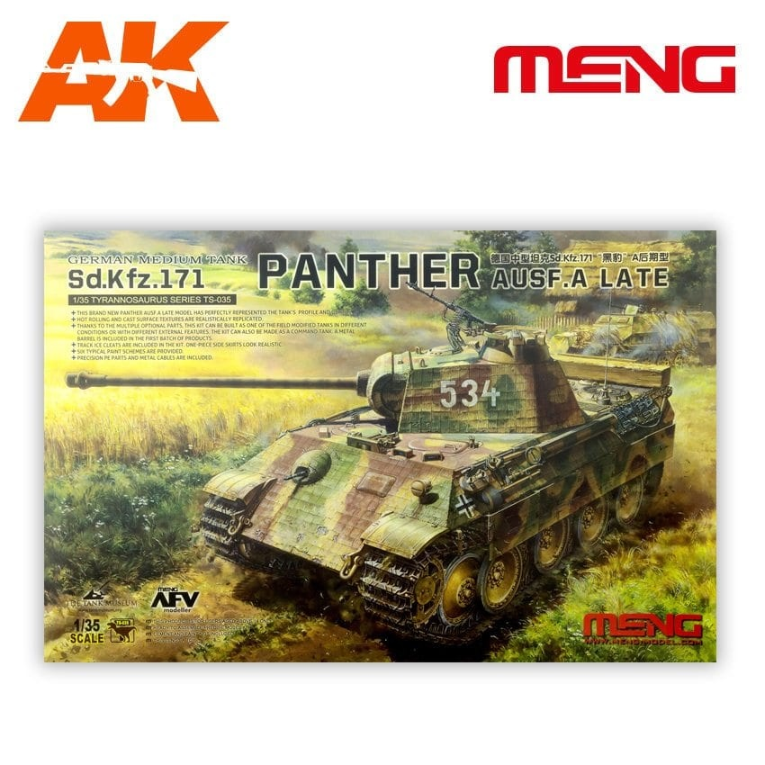 Meng Models Sd.Kfz.171 Panther Ausf.A.Late - Scale 1/35 - Meng Models - MM TS-035