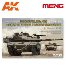 Israel Main Battle Tank Merkava Mk.4M w/Trophy Active Protection System - Scale 1/35 - Meng Models - MM TS-036