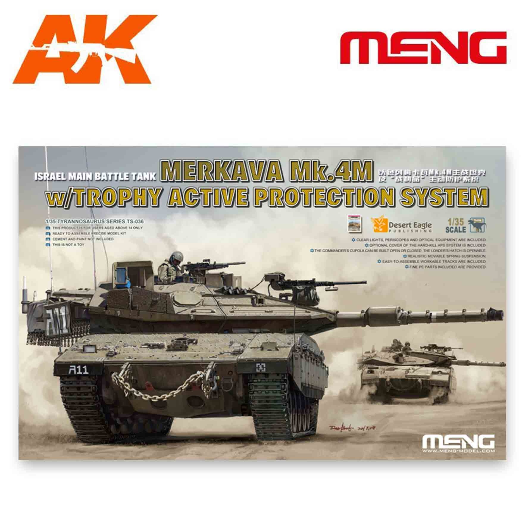 Meng Models Israel Main Battle Tank Merkava Mk.4M w/Trophy Active Protection System - Scale 1/35 - Meng Models - MM TS-036