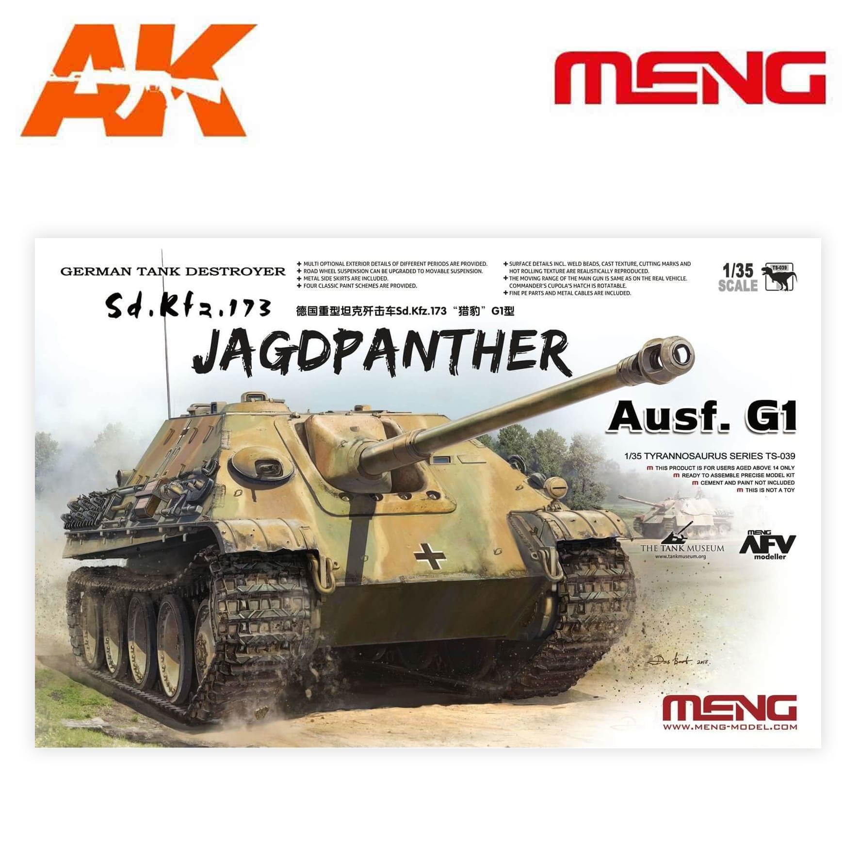 Meng Models German Tank Destroyer Sd.Kfz.173 Jagdpanther G1 - Scale 1/35 - Meng Models - MM TS-039