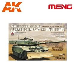 Canadian Main Battle Tank Leopard C2 MEXAS w/Dozer Blade - Scale 1/35 - Meng Models - MM TS-041