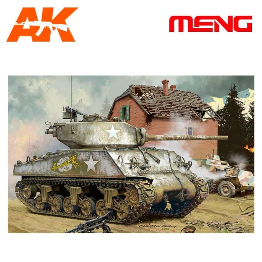 Meng Models U.S. Medium Tank M4A3 (76) W - Scale 1/35 - Meng Models - MM TS-043