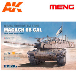 Israel Main Battle Tank Magach 6B GAL - Scale 1/35 - Meng Models - MM TS-044