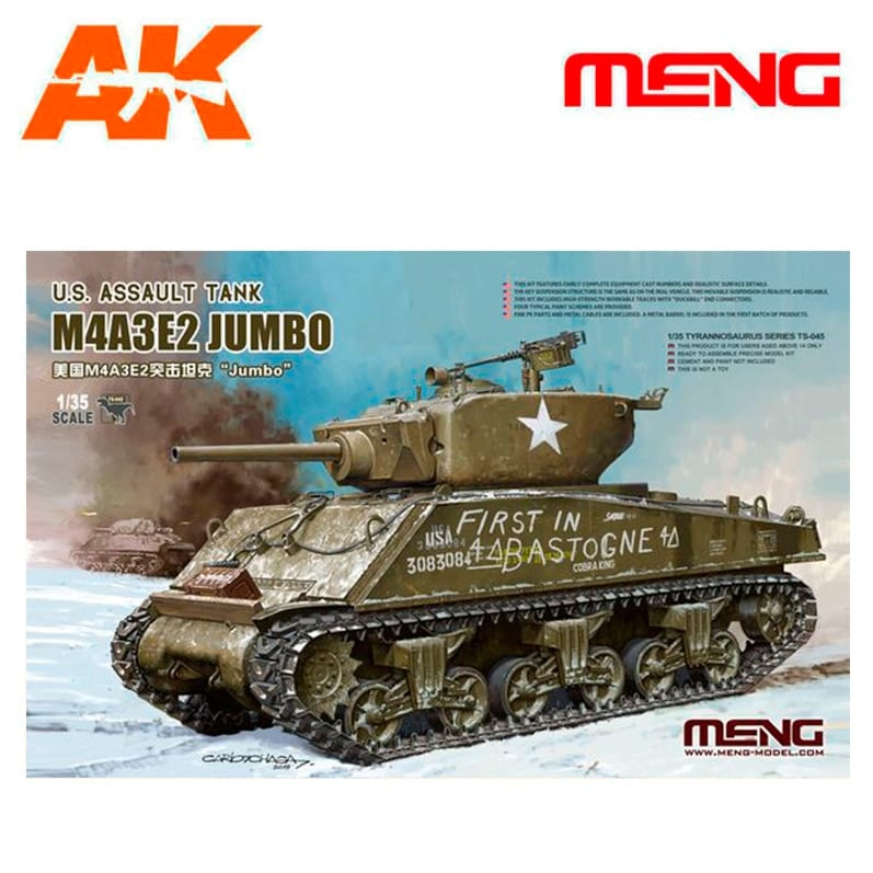 Meng Models U.S. Assault Tank M4A3E2 Jumbo - Scale 1/35 - Meng Models - MM TS-045