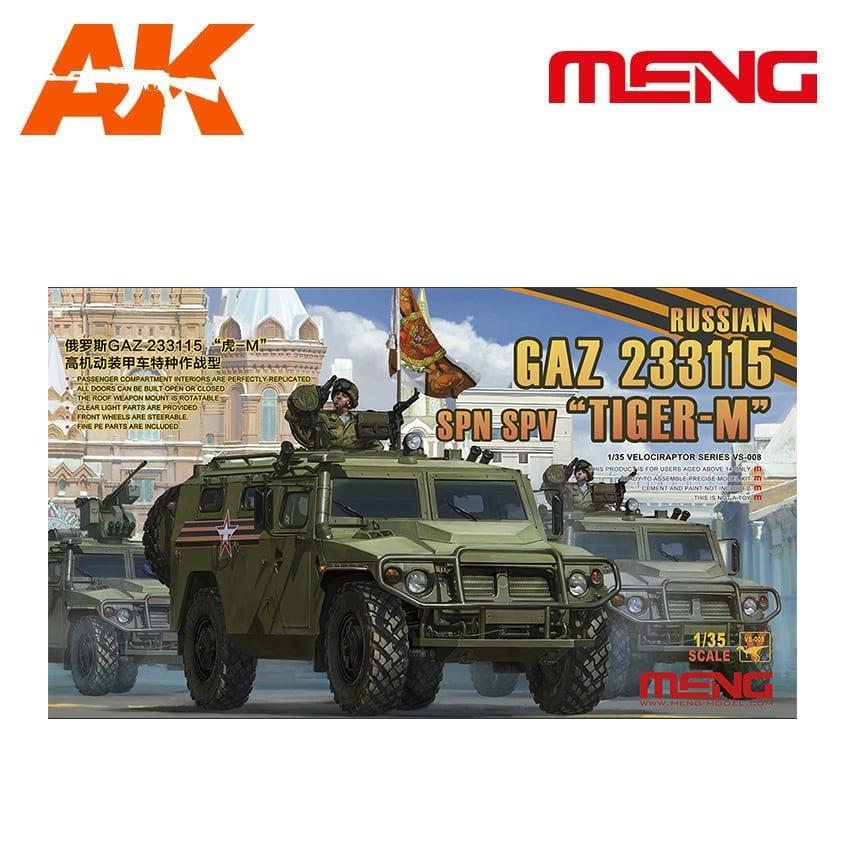 """Meng Models Russian GAZ 233115 """"TIGER-M"""" SPN SPV - Scale 1/35 - Meng Models - MM VS-008"""