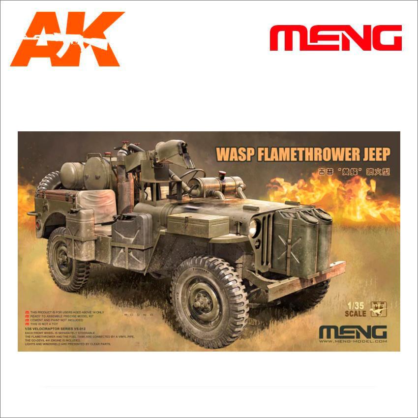 Meng Models MB Military Vehicle Wasp Flamethrower - Scale 1/35 - Meng Models - MM VS-012