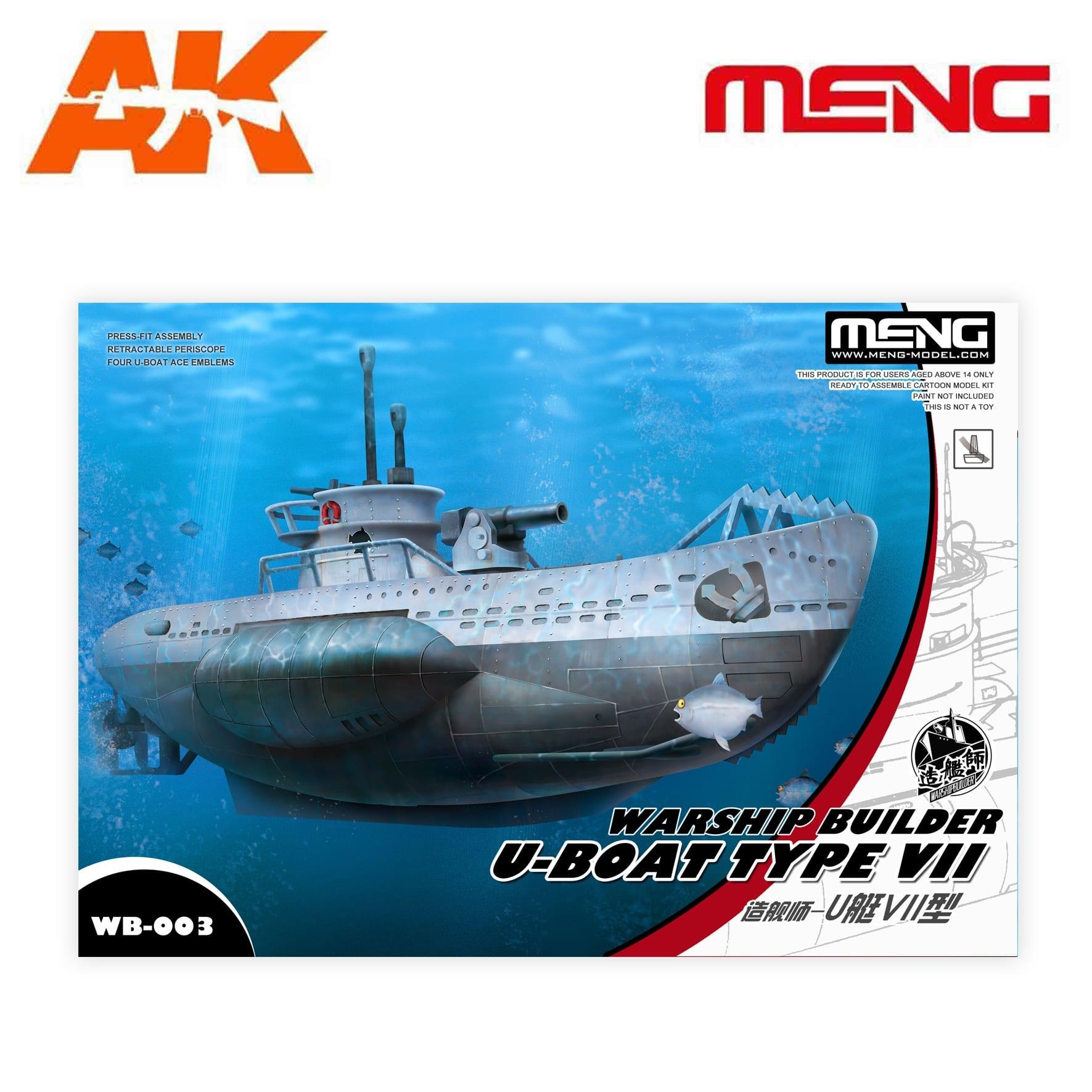 Meng Models Warship Builder – U-Boat Type VII - Cartoon Model - Meng Models - Mm Wb-003