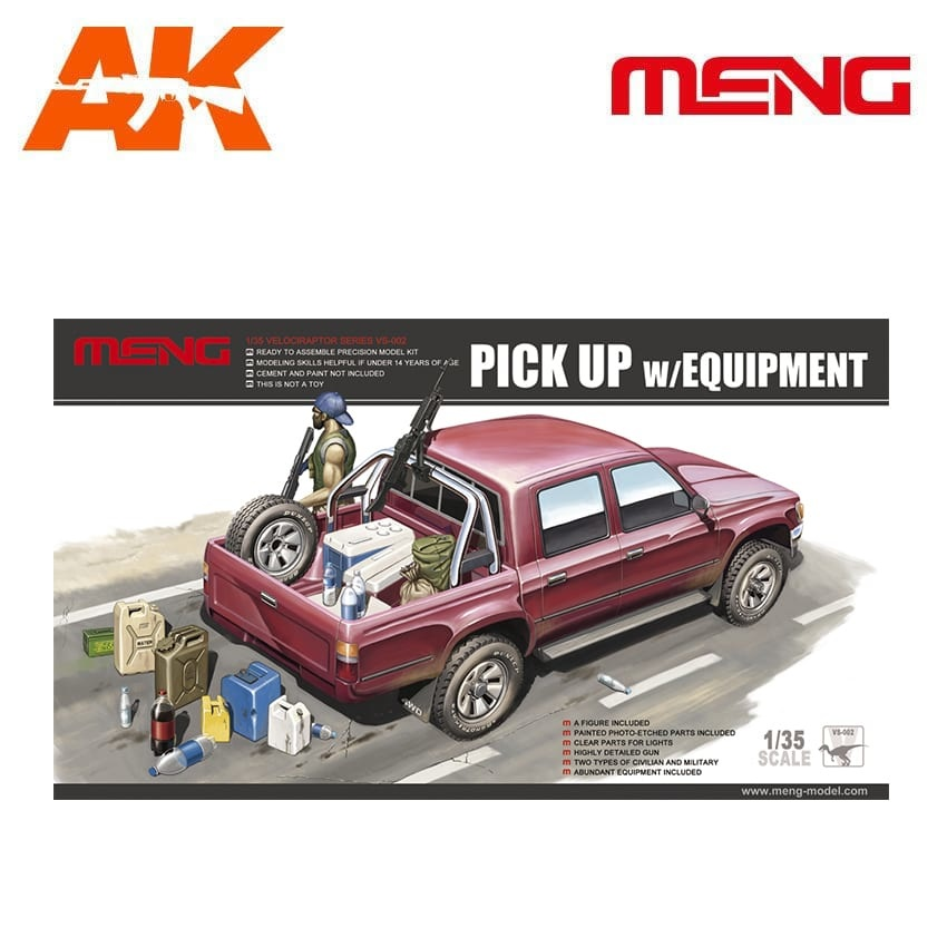 Meng Models Pick Up W/Equipment - Scale 1/35 - Meng Models - MM VS-002