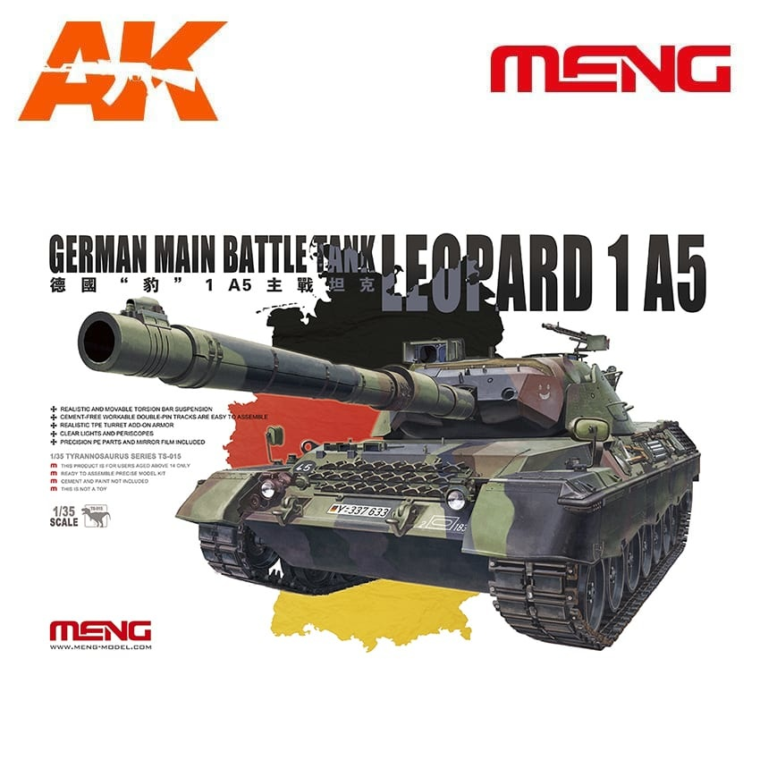 Meng Models German Main Battle Tank Leopard 1 A5 - Scale 1/35 - Meng Models - MM TS-015