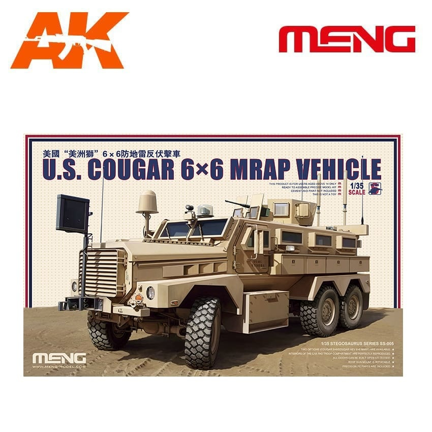 Meng Models U.S. Cougar 6×6 MRAP Vehicle - Scale 1/35 - Meng Models - MM SS-005