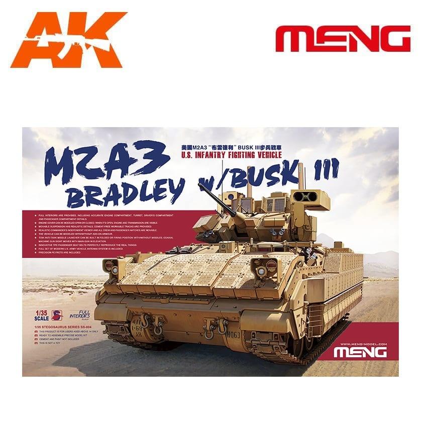 Meng Models U.S. Infantry Fighting Vehicle M2A3 Bradley w/BUSK III - Scale 1/35 - Meng Models - MM SS-004