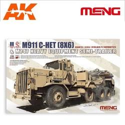 U.S. M911 C-HET (8X6) & M747 Heavy Equipment Semi-Trailer - Scale 1/35 - Meng Models - MM SS-013