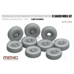 Russian Air Defense Weapon System 96K6 Pantsir-S1 Sagged Wheel Set - Scale 1/35 - Meng Models - MM SPS-068