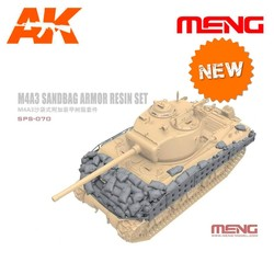 M4A3 Sandbag Armor Set (Resin) - Scale 1/35 - Meng Models - MM SPS-070
