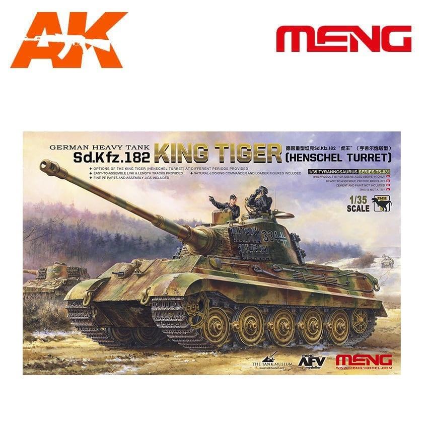 Meng Models German Heavy Tank Sd.Kfz.182 King Tiger (Henschel Turret) - Scale 1/35 - Meng Models - MM TS-031