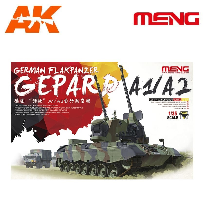 Meng Models German Flakpanzer Gepard A1/A2 - Scale 1/35 - Meng Models - MM TS-030