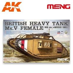 British Heavy Tank Mk.V Female - Scale 1/35 - Meng Models - MM TS-029