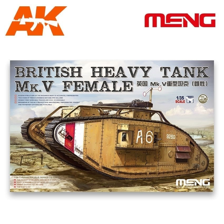 Meng Models British Heavy Tank Mk.V Female - Scale 1/35 - Meng Models - MM TS-029