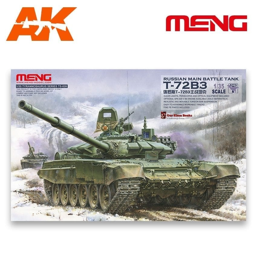 Meng Models Russian Main Battle Tank T-72B3 - Scale 1/35 - Meng Models - MM TS-028