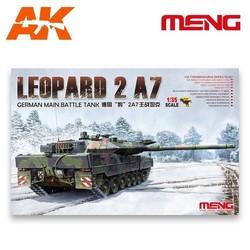German Main Battle Tank Leopard 2 A7 - Scale 1/35 - Meng Models - MM TS-027