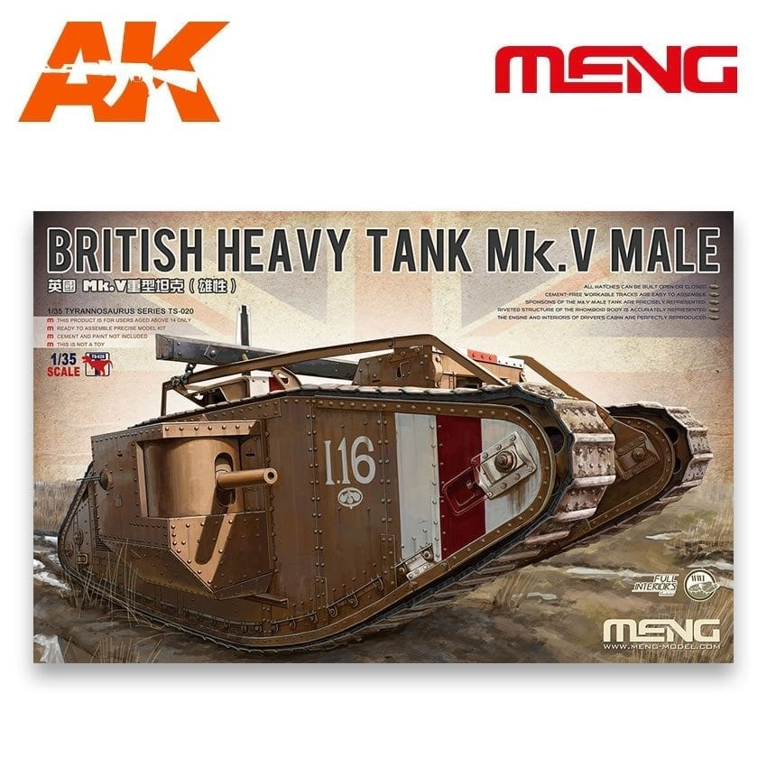 Meng Models British Heavy Tank Mk.V Male - Scale 1/35 - Meng Models - MM TS-020