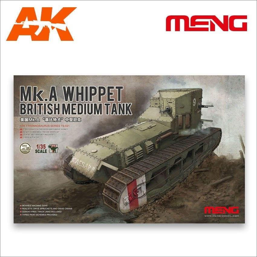 Meng Models British Medium Tank Mk.A Whippet - Scale 1/35 - Meng Models - MM TS-021