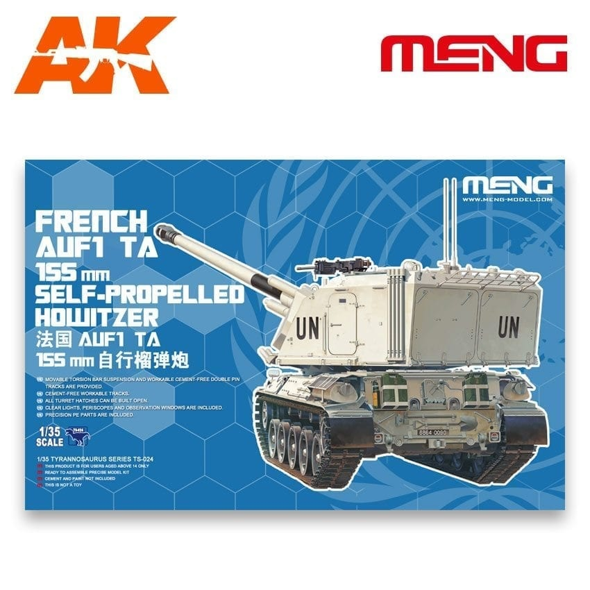 Meng Models French Auf1 Ta 155Mm Self-Propelled Howitzer - Scale 1/35 - Meng Models - MM TS-024