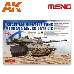 Israel Main Battle Tank Merkava Mk.3D Late Lic - Scale 1/35 - Meng Models - MM TS-025