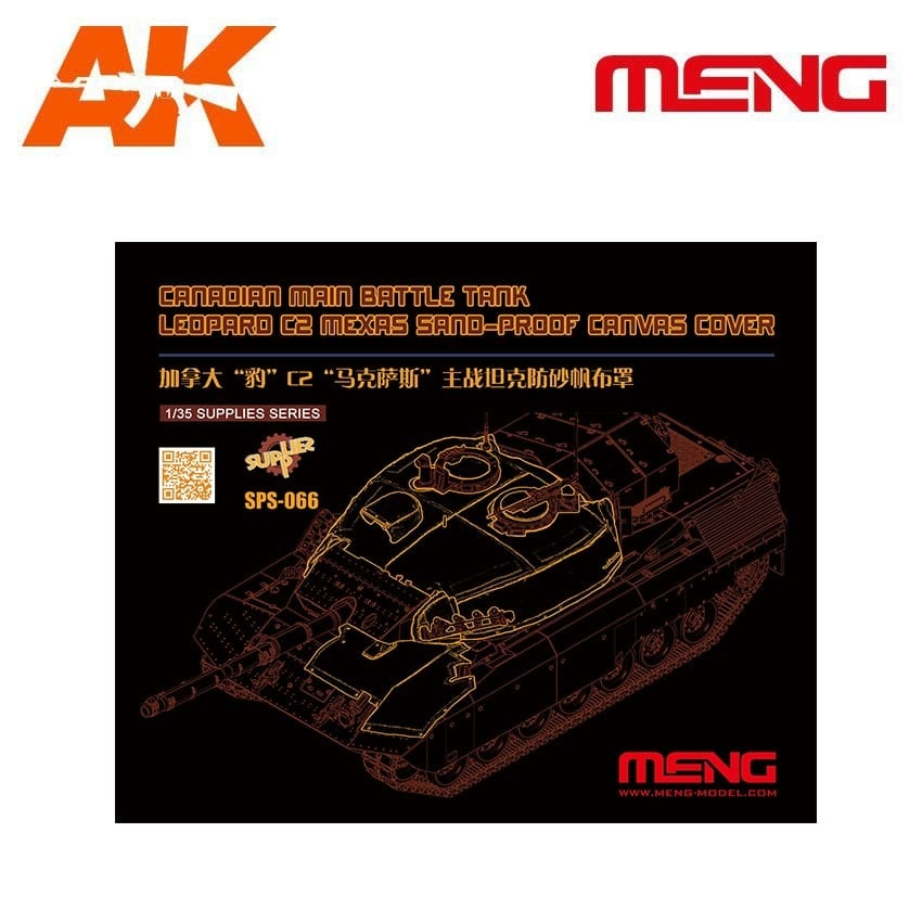 Meng Models Canadian Main Battle Tank Leopard C2 MEXAS Sand-Proof Canvas Cover (RESIN) - Scale 1/35 - Meng Models - MM SPS-066