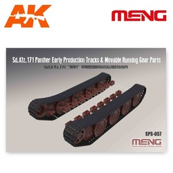 German Medium Tank Sd.Kfz.171 Panther Early Production Tracks & Movable Running Gear Parts - Scale 1/35 - Meng Models - MM SPS-057