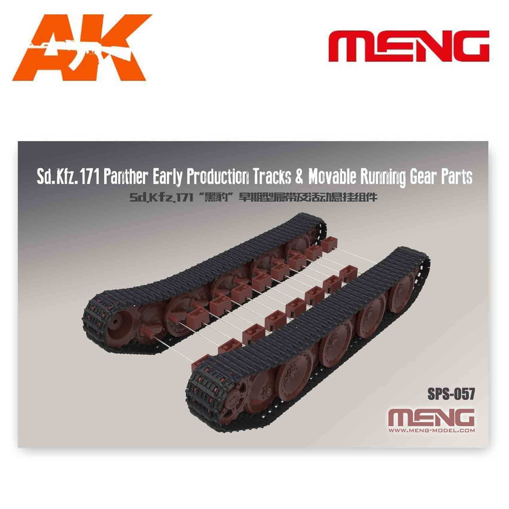Meng Models German Medium Tank Sd.Kfz.171 Panther Early Production Tracks & Movable Running Gear Parts - Scale 1/35 - Meng Models - MM SPS-057