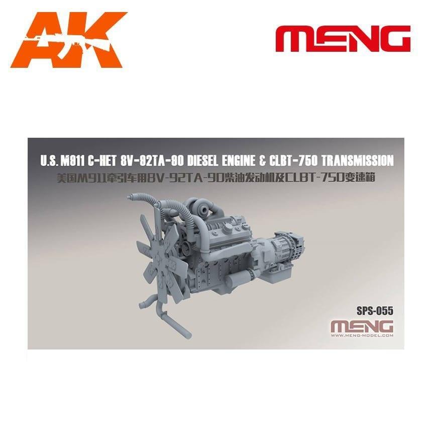 Meng Models U.S. M911 C-HET 8V-92TA-90 Diesel Engine & CLBT-750 Transmission (Resin) - Scale 1/35 - Meng Models - MM SPS-055