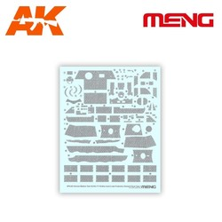 Decal Type 4 – German Medium Tank Sd.Kfz.171 Panther Ausf.A Late - Scale 1/35 - Meng Models - Mm Sps-053
