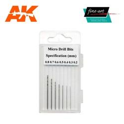 Modellers Drills 0.2 - 0.8mm - Fine Art - FA 520