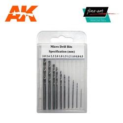 Modellers Drills 0.5mm - 3.0mm - Fine Art - FA 521