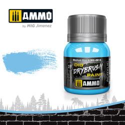 Drybrush Medium Blue - 40ml - Ammo by Mig Jimenez - A.MIG-0614